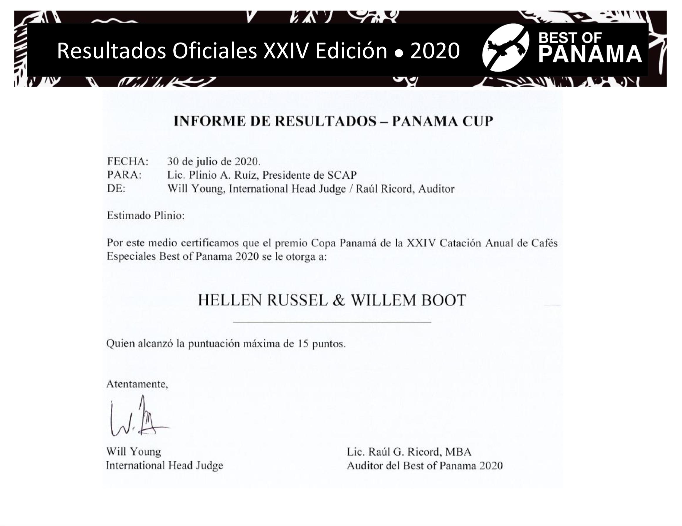 RESULTADOS OFICIALES DE LA XXIV EDICION DEL BEST OF PANAMA